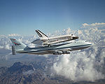 SCA and Discovery after return to flight, 2005.jpg