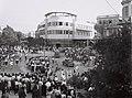 "SEAFARERS DAY"" MARCH ON MAGEN DAVID CIRCLE IN TEL AVIV. בני נוער צועדים ביום הימאים בכיכר מגן דוד בתל אביב.D843-047.jpg"