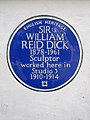 SIR WILLIAM REID DICK 1878-1961 Sculptor worked here in Studio 3 1910-1914.jpg