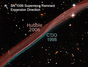 SN 1006 - SN 1006 remnant expansion comparison