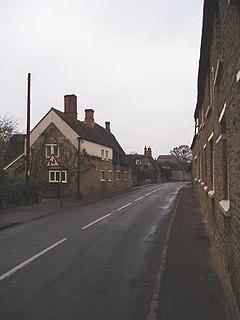 Pavenham farm village in the United Kingdom