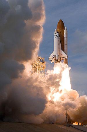 SOLAR (ISS) - SOLAR heads into orbit on STS-122