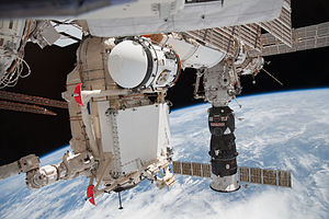 Rassvet (ISS module) - Image: STS 132 ISS 23 Rassvet Pirs and Progress M 05M