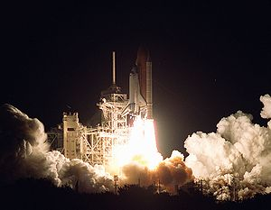 STS-97 - Space Shuttle Endeavour launches from the Kennedy Space Center, 30 November 2000