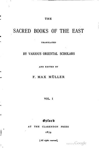 File:Sacred Books of the East - Volume 1.djvu