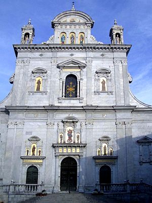 Sacro Monte di Varallo - Façade of the basilica.