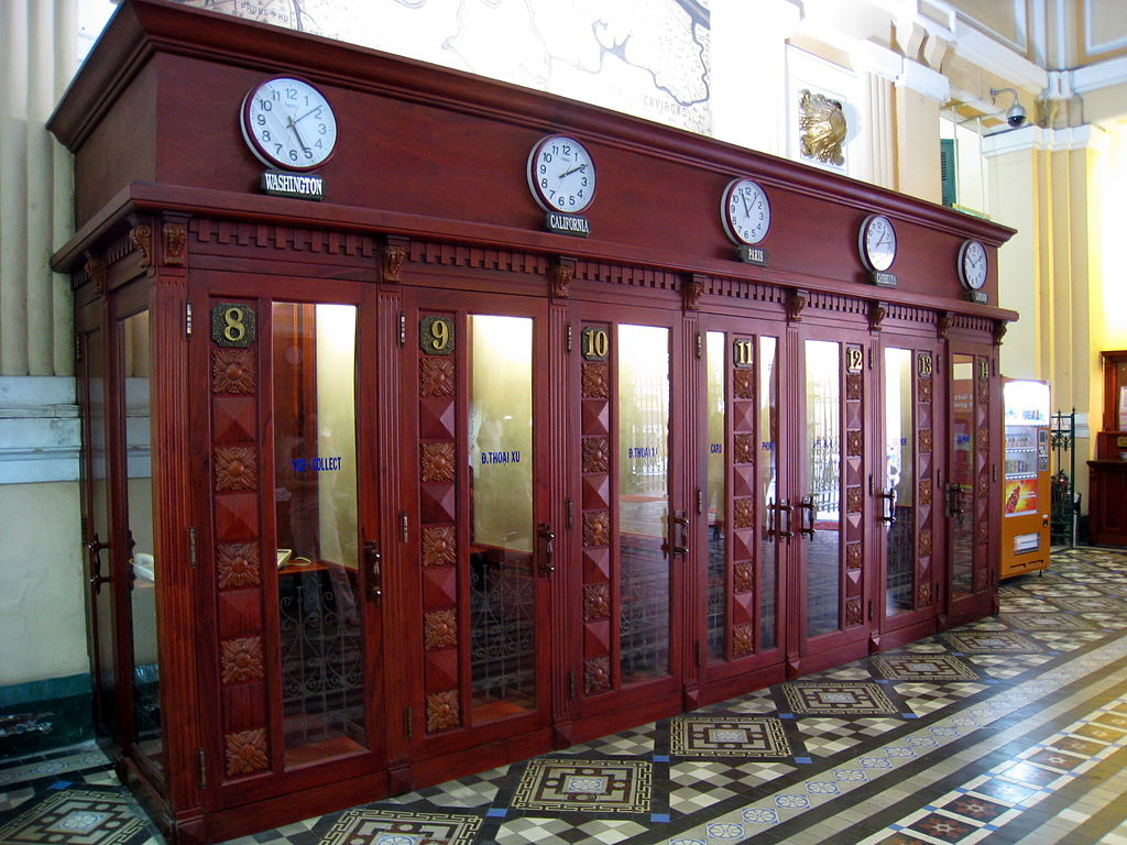 Saigon Central Post Office Telephone Booth