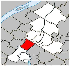 Saint-Basile-le-Grand, Quebec - Image: Saint Basile le Grand Quebec location diagram