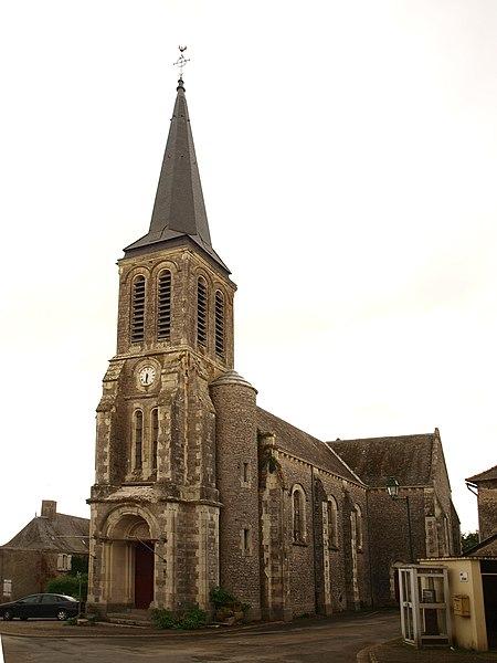 Saint-Georges-le-Fléchard (Mayenne, France); église