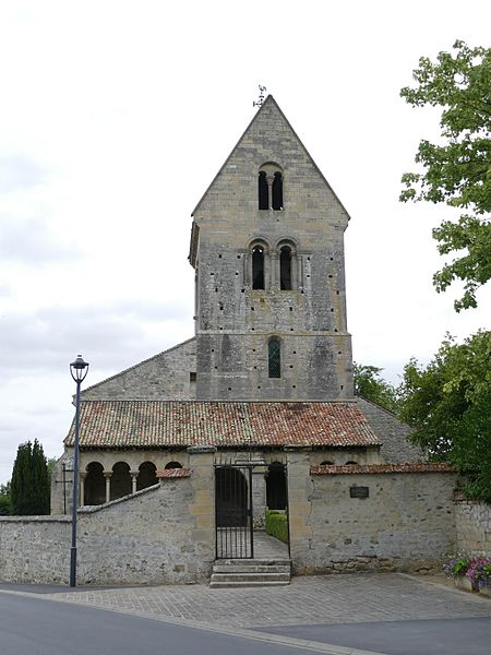 Saint-Hilaire's church in Saint-Thierry (Marne, Champagne-Ardenne, France).