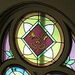 Saint Anthony Catholic Church (Temperance, MI) - stained glass, Keys to the Kingdom.jpg
