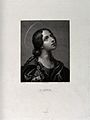 Saint Lucy. Line engraving by E. Fabbrini after F. Calendi a Wellcome V0032542.jpg