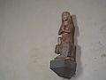 Sainte Marthe et la Tarasque - statue du XIVe siècle en pierre polychrome - Dompierre dans l'Orne (France) - 1.JPG