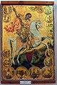 Salamis Saint Barnabas museum icon St George slaying the dragon 02.jpg