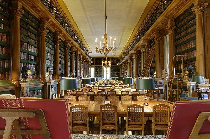 Fichier:Salle de lecture de la Bibliotheque Mazarine Paris n1.jpg