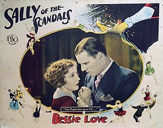 <i>Sally of the Scandals</i> 1928 silent film by Lynn Shores