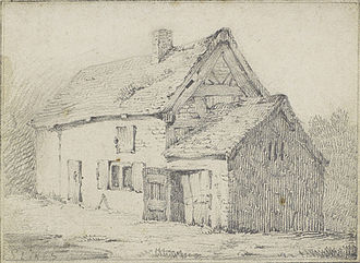 David Cox (artist) - Cox's birthplace in Deritend, Birmingham, illustrated by Samuel Lines