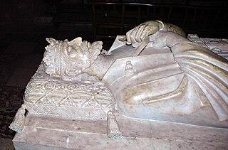 Sepulcro del rey Sancho I de Mallorca en la Catedral de Perpiñán.