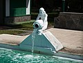 San Agustin statue at pool.jpg