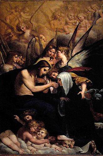 Francesco Brizio - Francesco Brizio, St Catherine's Mystic Communion, Basilica of San Domenico, Bologna