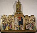 San Lorenzo (San Giovanni Valdarno), interno, incoronazione della Vergine e santi attr. a Giovanni del Biondo (1374 circa).JPG