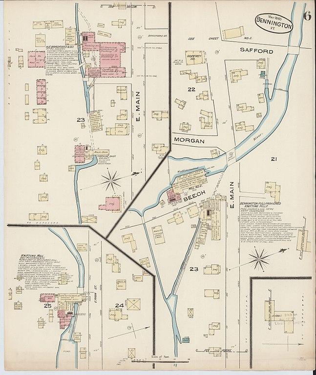 File Sanborn Fire Insurance Map from Bennington Bennington County