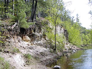 National Register of Historic Places listings in Burnett County, Wisconsin - Image: Sandrock Cliffs