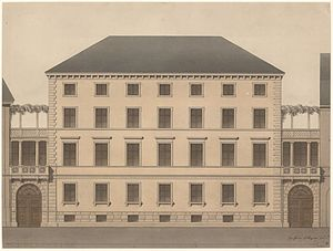 Sankt Annæ Plads 1–3 - Elevation by Hetsch from 1847