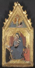 Virgin and Child Adored by Saints Mary Magdalene and Nicolas of Bari;  Christ Crucified with the Virgin and Saint John the Evangelist
