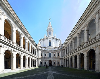 Church of Sant'Ivo alla Sapienza, originally the chapel and seat of the university library (until 1935).