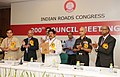 """Sarvey Sathyanarayana releasing the """"Guidelines on Urban Drainage (First Revision)"""", at the inauguration of the 200th Mid-Term Council Meeting of Indian Roads Congress, in New Delhi on August 11, 2013.jpg"""