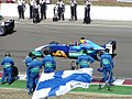 Sauber starting warm up lap at the 2003 Hungarian Grand Prix.jpg