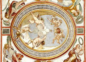 Fresco at the Scala Sancta in Rome.