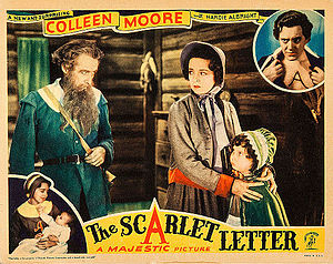 Hardie Albright - Albright (upper right) in The Scarlet Letter (1934)