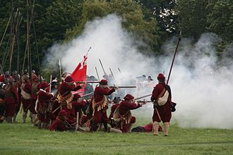 Battle of Naseby - Image: Scene from recreation of Battle of Naseby