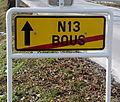 Schëld exit Bus Richtung Süden.jpg