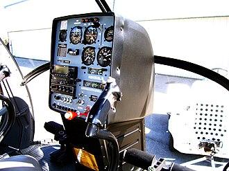 Schweizer 300 - Interior of Schweizer 300CB