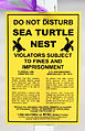 Sea turtle nest sign (Boca raton, FL).jpg