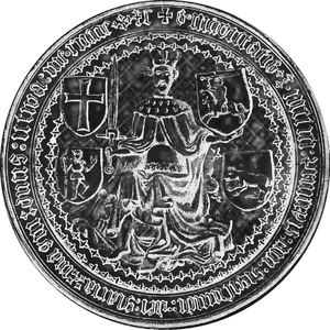 Lithuanian Civil War (1432–38) - Royal seal of Sigismund Kęstutaitis