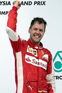 Sebastian Vettel German racing driver