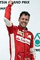 Sebastian Vettel 2015 Malaysia podium 1.jpg