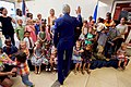 Secretary Kerry Waves Goodbye to a Group of Children After Addressing Staff and Family Members at U.S. Embassy Kigali (30326407545).jpg