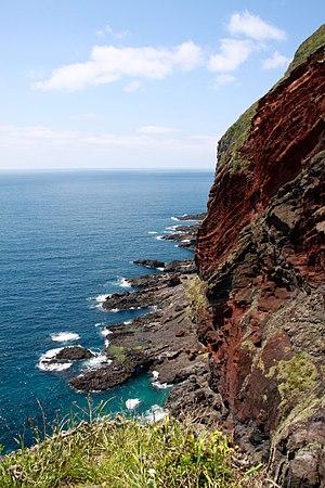 Oki Islands - Sekiheki volcanic cliff, Chiburijima.