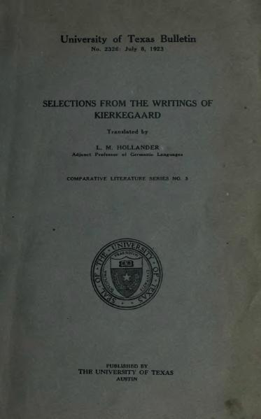 File:Selections from the writings of Kierkegaard.djvu