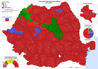 Romanian legislative election, 2012 - The results for the Senate