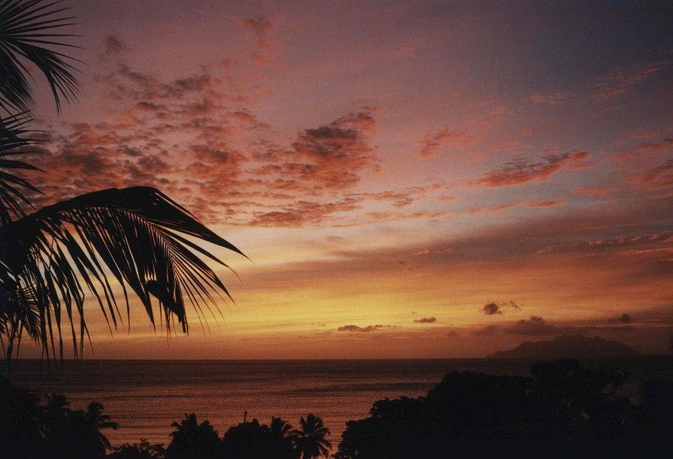 Seychellen-Sonnenuntergang
