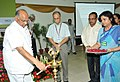 Sharad Pawar lighting the lamp to inaugurate the National Horticulture Conference, in New Delhi on July 17, 2013. The Agriculture Secretary, Shri Ashish Bahuguna is also seen.jpg