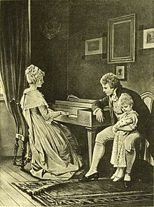 She was playing upon her piano (The Works of J. W. von Goethe, Volume 6).jpg