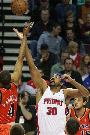 Rasheed Wallace - Wallace in a game against the Golden State Warriors