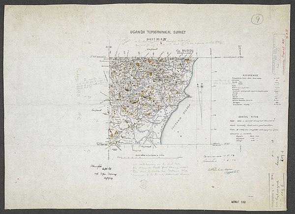 600px sheet south a 36 b   war office ledger.uganda topographical survey. %28woos 13 7 9%29